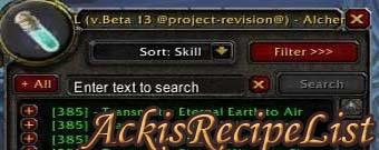 AckisRecipeList