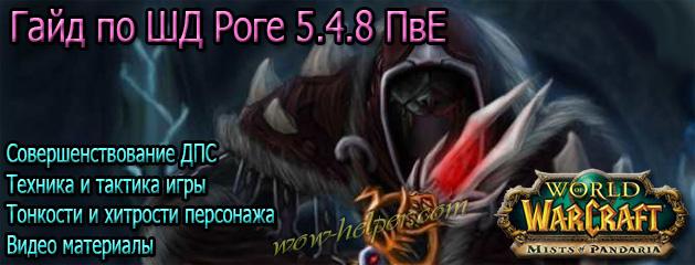 Гайд по ШД Роге 5.4.8 ПвЕ