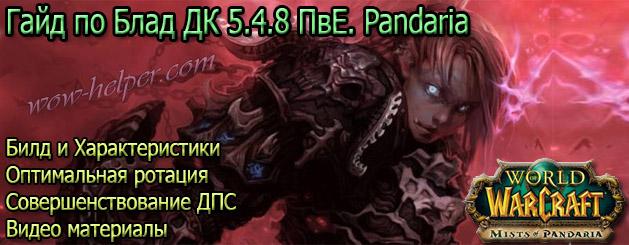 Гайд по Блад ДК 5.4.8 ПвЕ