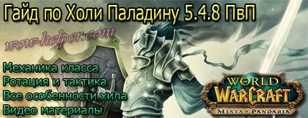 Гайд по Холи Паладину 5.4.8 ПвП